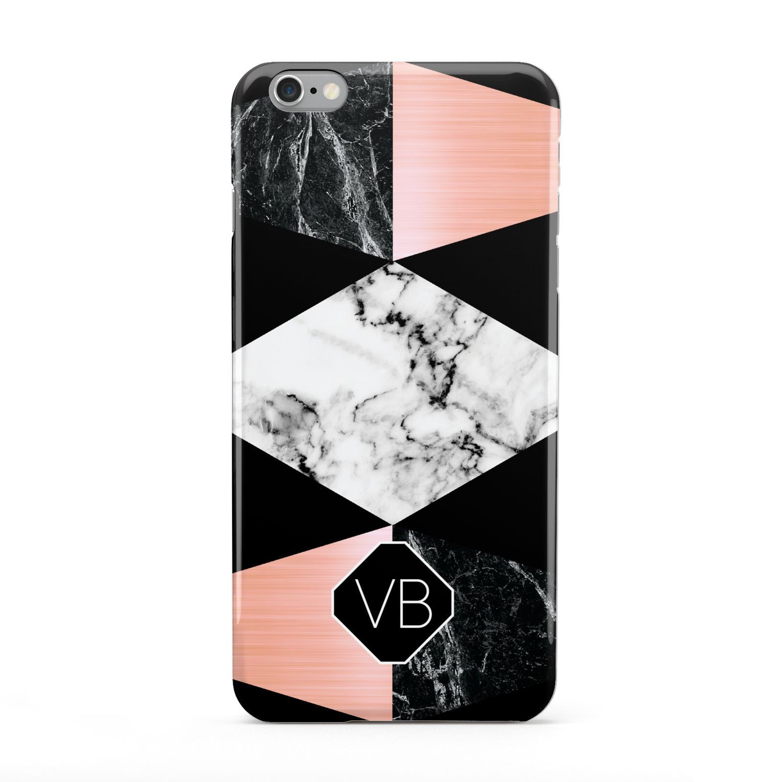 Personalised Custom Marble Initials Apple iPhone 6 Plus Case