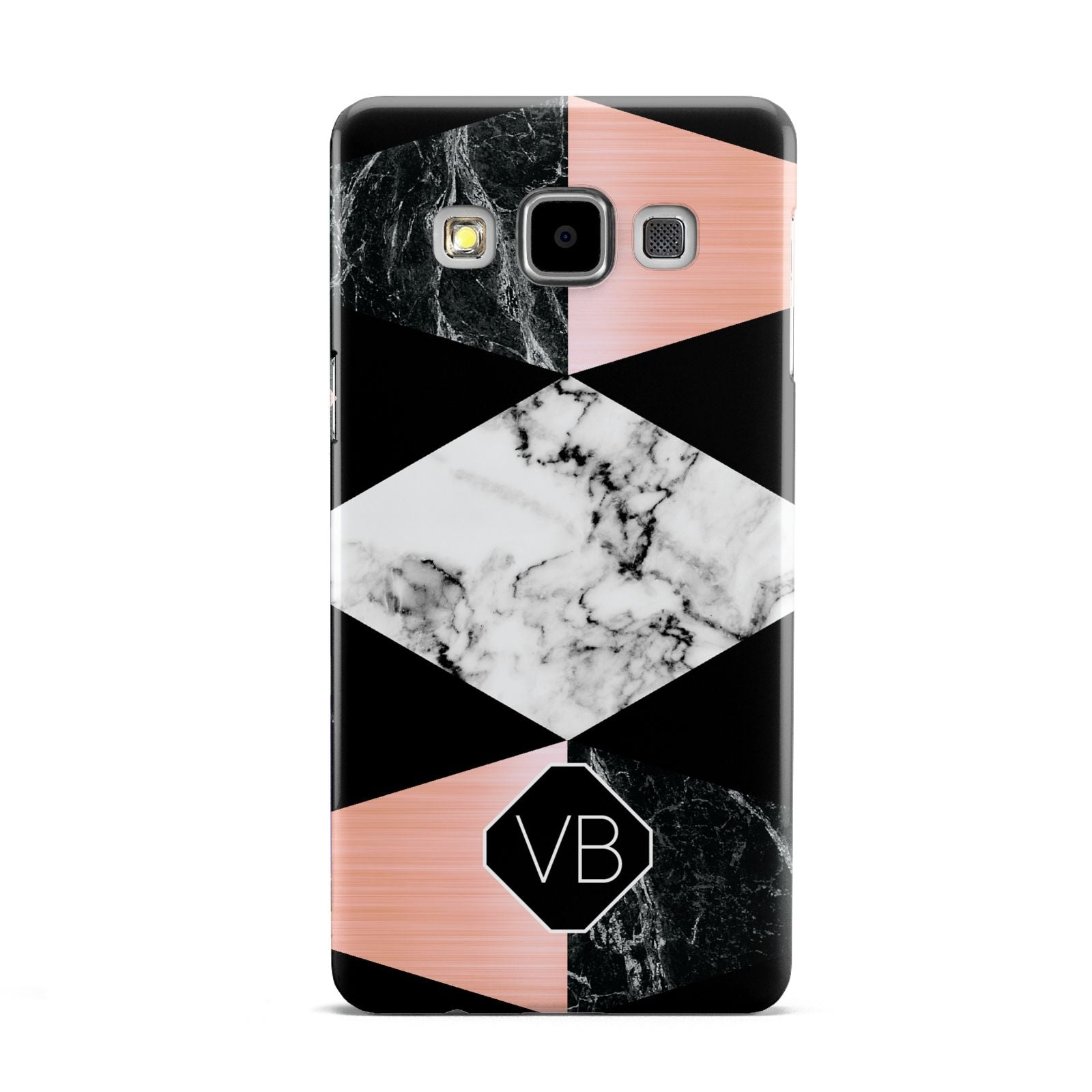 Personalised Custom Marble Initials Samsung Galaxy A5 Case