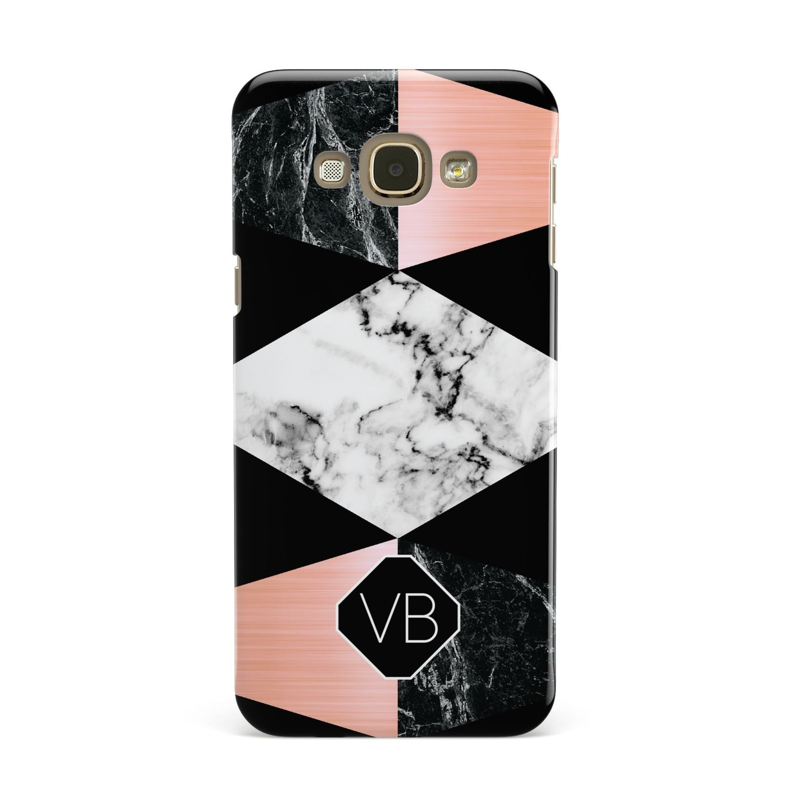 Personalised Custom Marble Initials Samsung Galaxy A8 Case