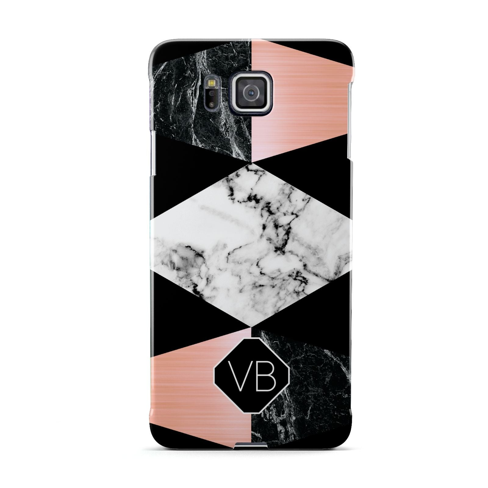 Personalised Custom Marble Initials Samsung Galaxy Alpha Case
