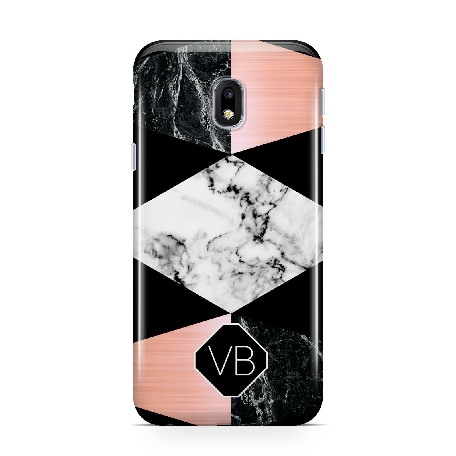 Personalised Custom Marble Initials Samsung Galaxy J3 2017 Case