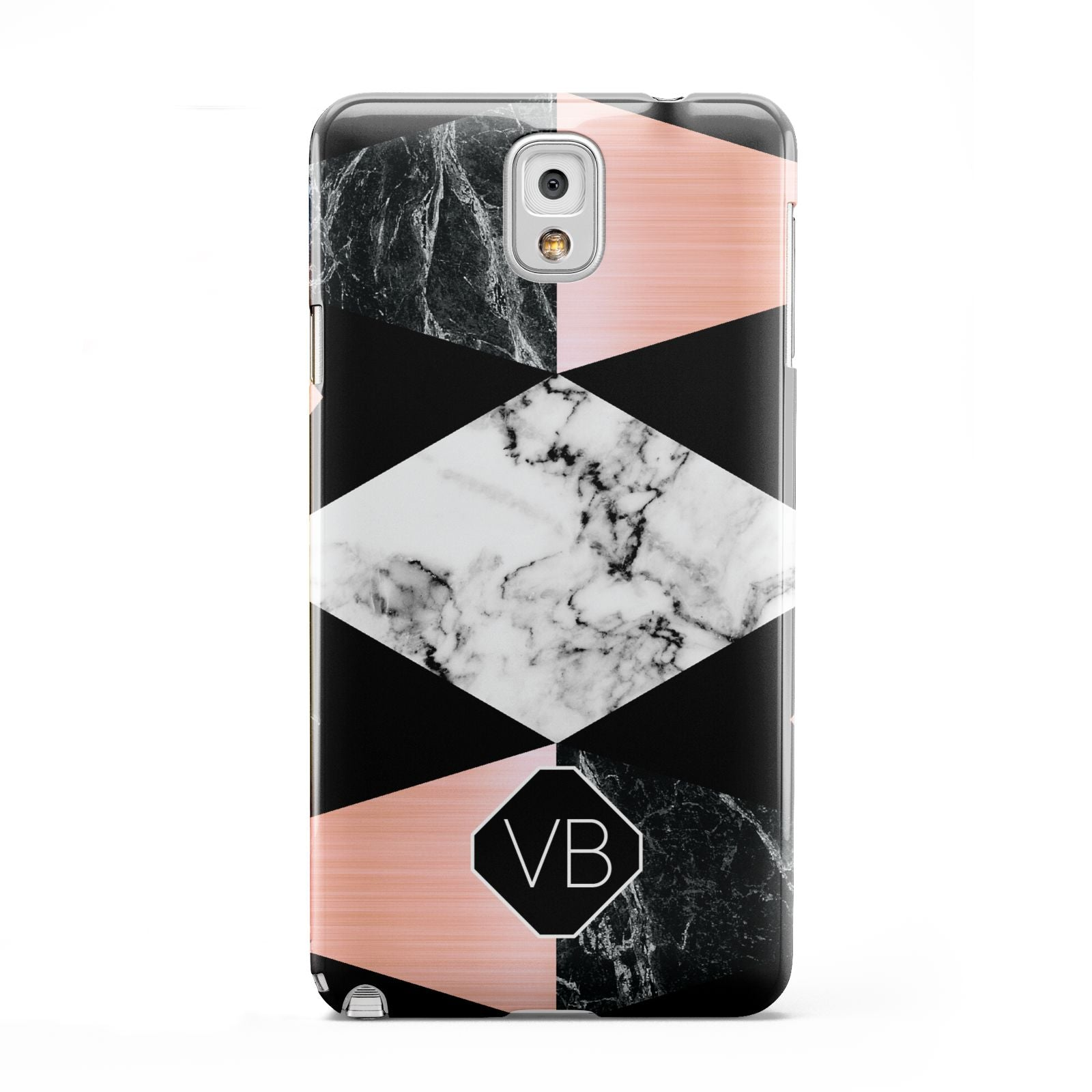 Personalised Custom Marble Initials Samsung Galaxy Note 3 Case
