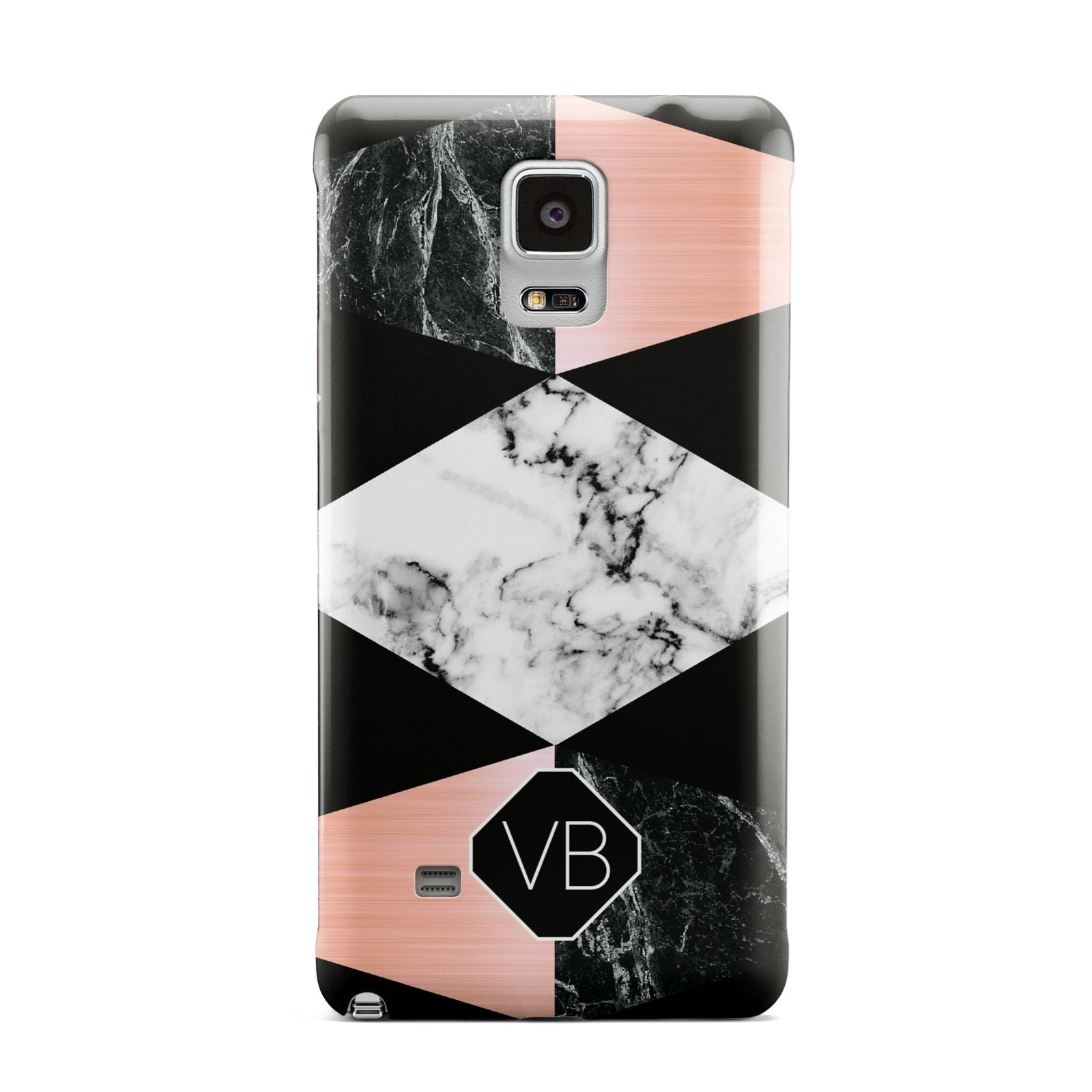 Personalised Custom Marble Initials Samsung Galaxy Note 4 Case