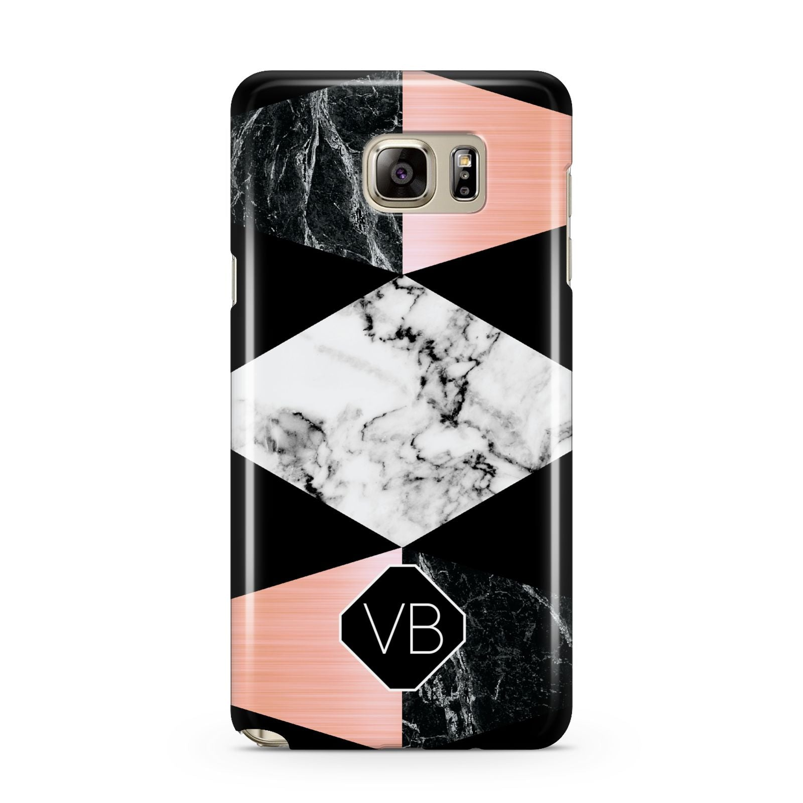 Personalised Custom Marble Initials Samsung Galaxy Note 5 Case