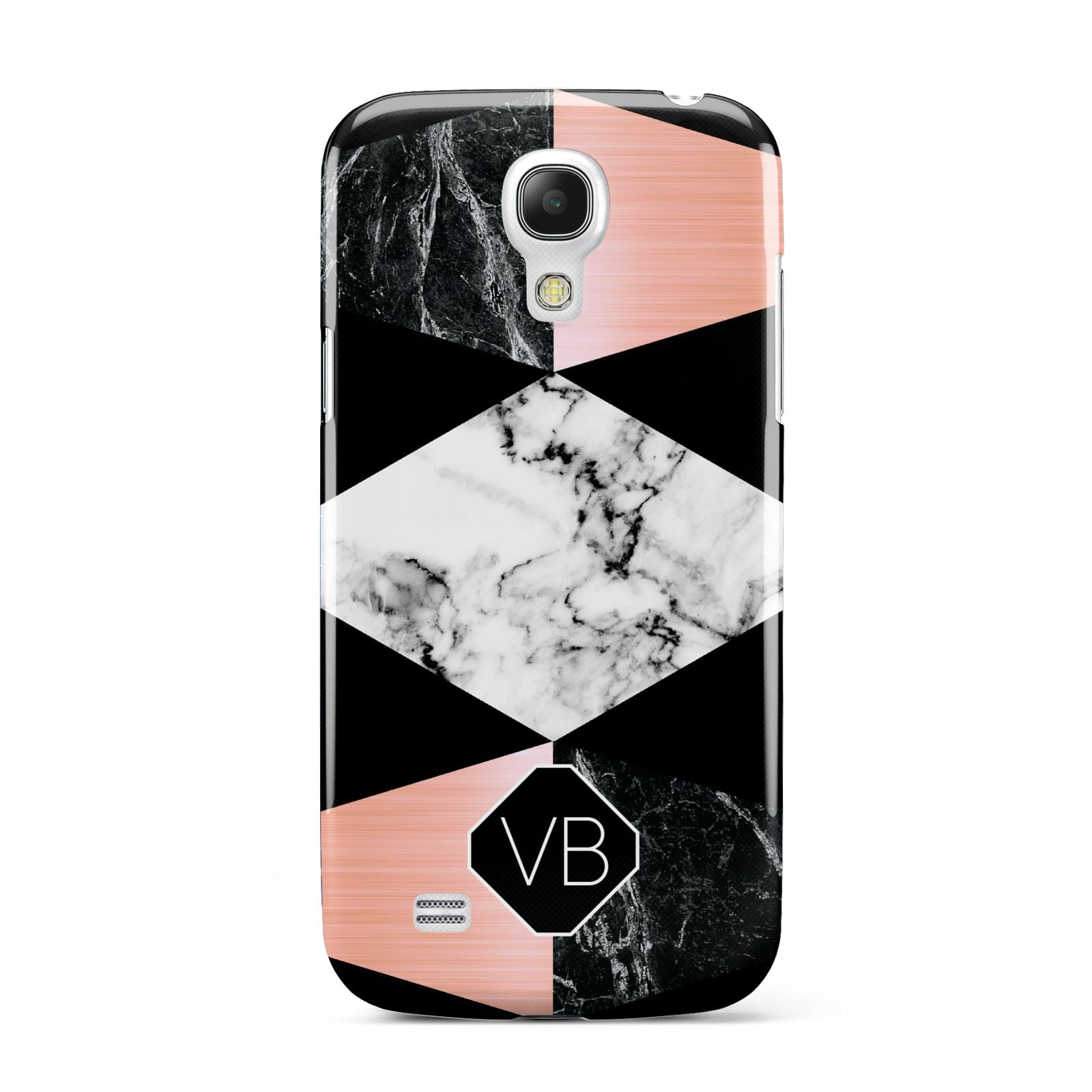 Personalised Custom Marble Initials Samsung Galaxy S4 Mini Case