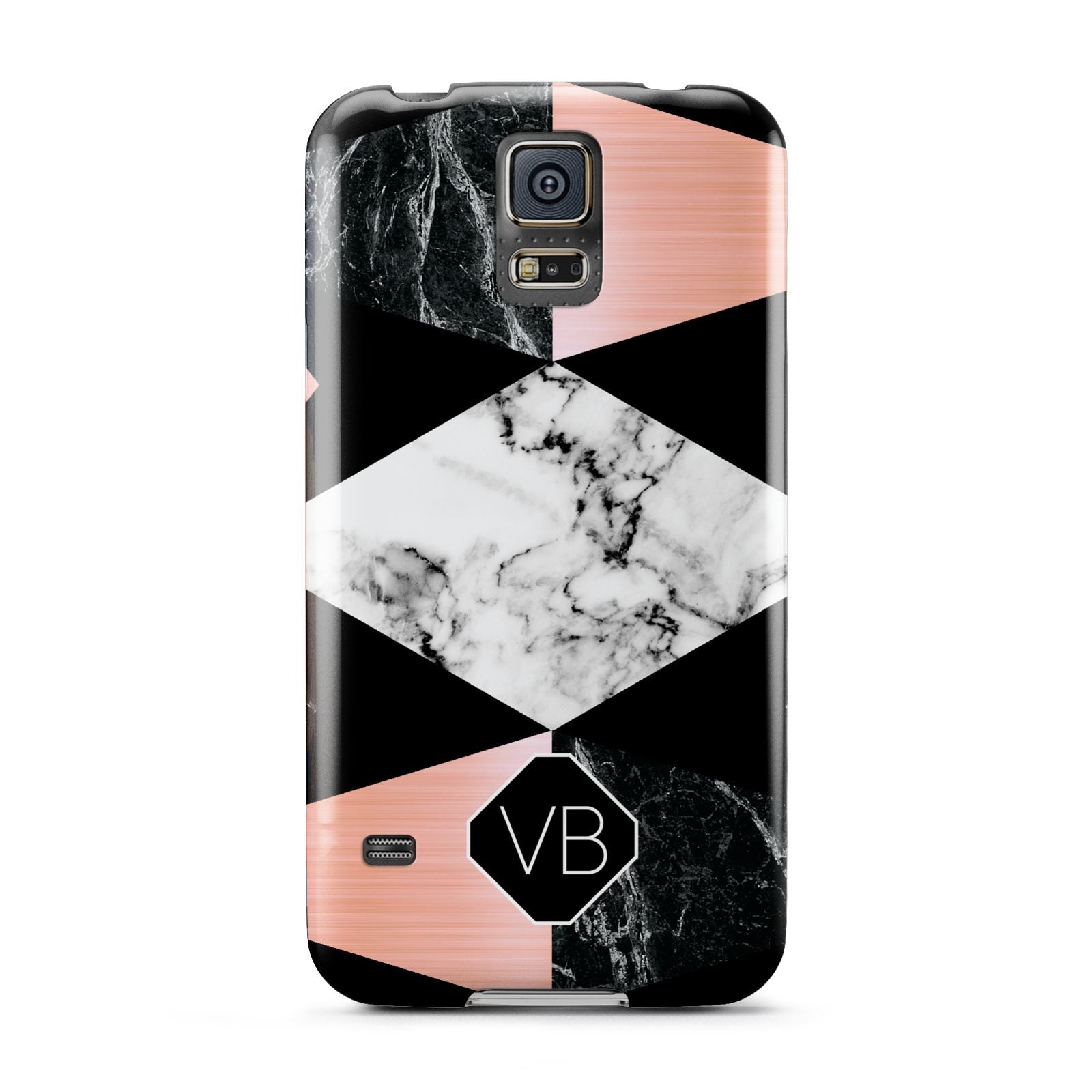Personalised Custom Marble Initials Samsung Galaxy S5 Case