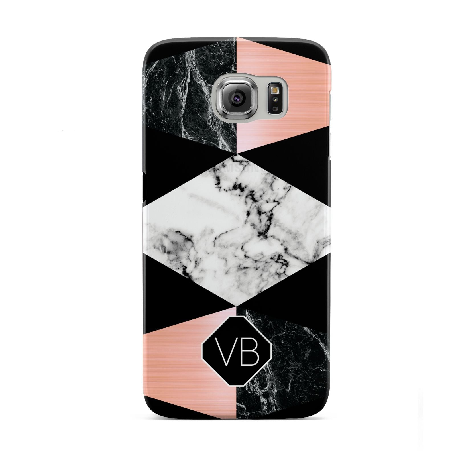 Personalised Custom Marble Initials Samsung Galaxy S6 Case