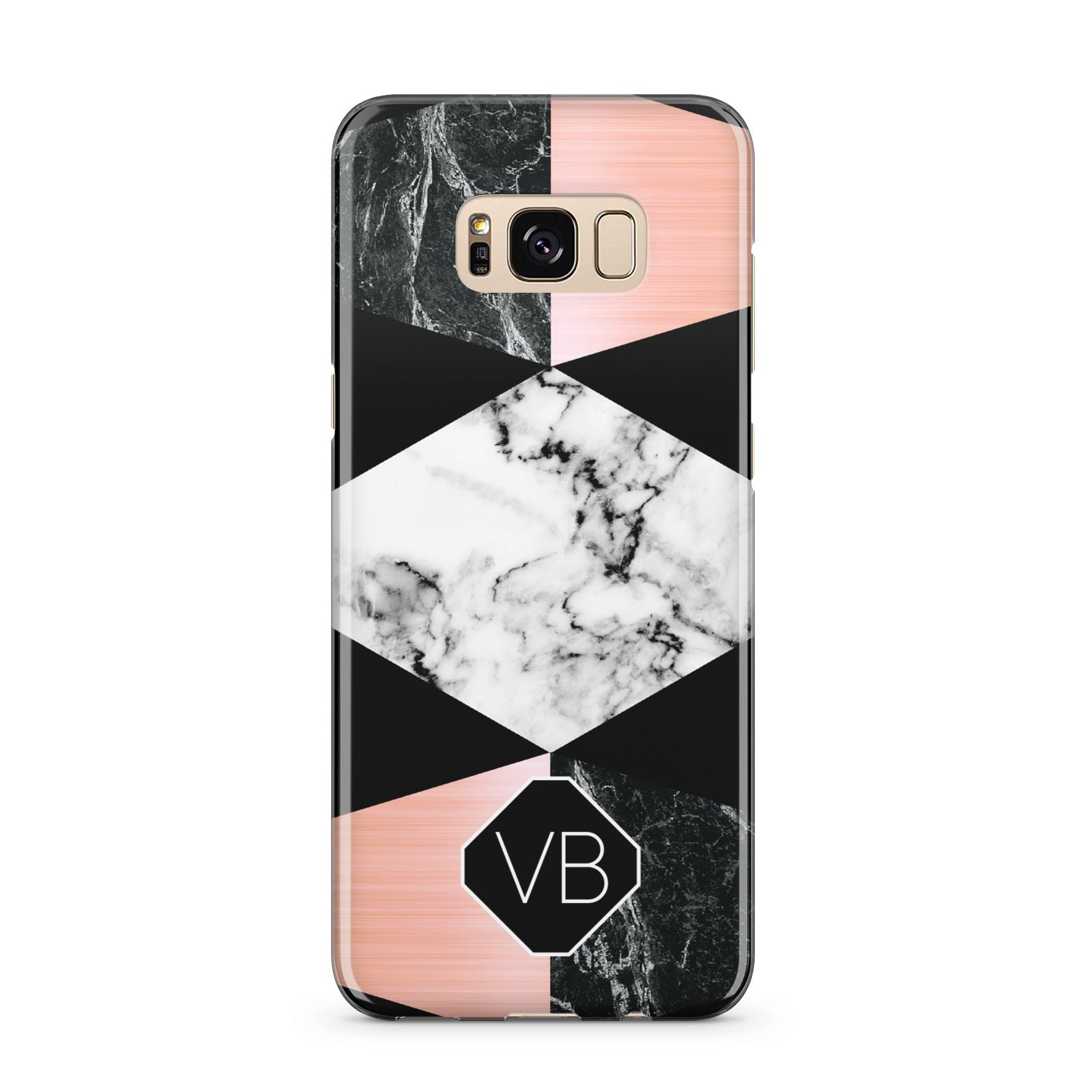 Personalised Custom Marble Initials Samsung Galaxy S8 Plus Case