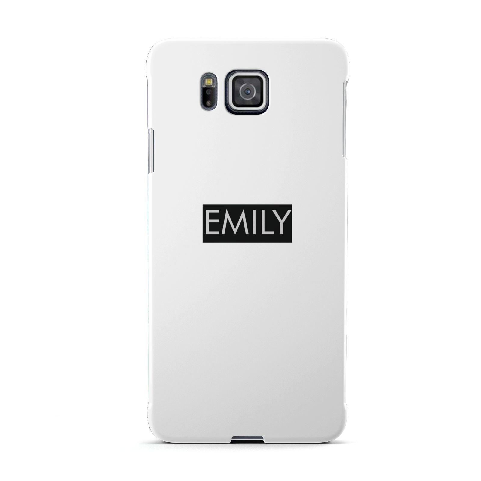 Personalised Cutout Name Heart Clear Black Samsung Galaxy Alpha Case