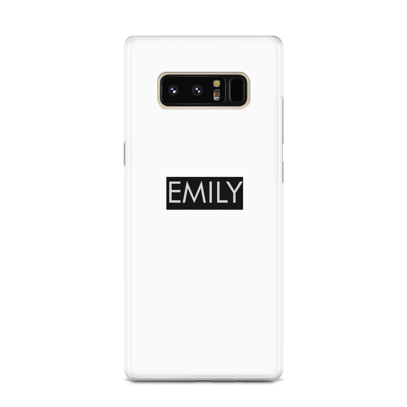 Personalised Cutout Name Heart Clear Black Samsung Galaxy Note 8 Case