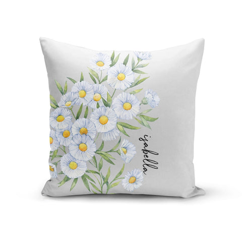 Personalised Daisy Flower Cushion