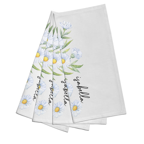 Personalised Daisy Flower Napkins
