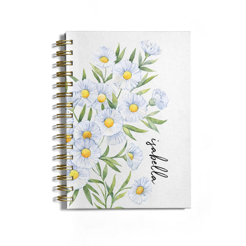 Personalised Daisy Flower Notebook