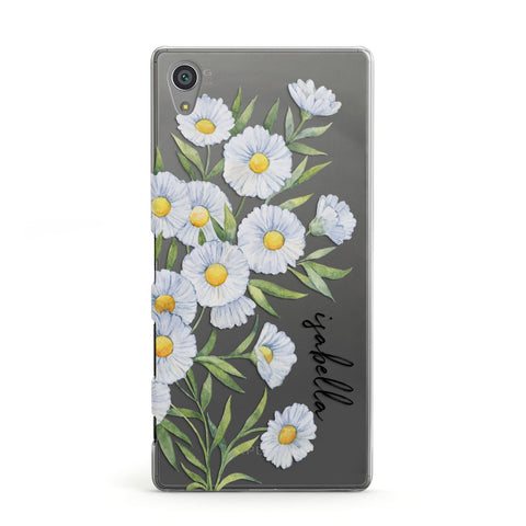 Personalised Daisy Flower Sony Case