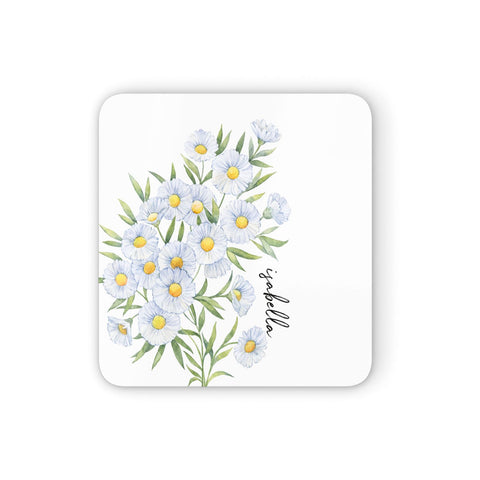 Personalised Daisy Flower Coasters set of 4