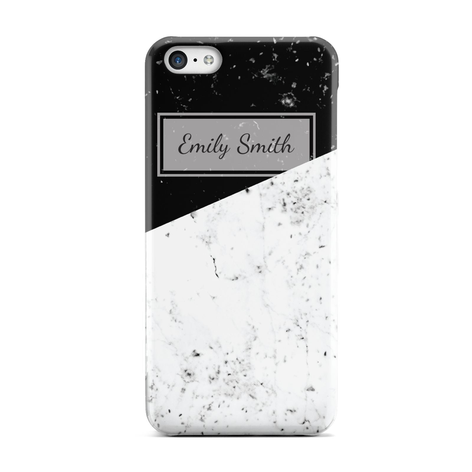 Personalised Day Night Marble Name Initials Apple iPhone 5c Case