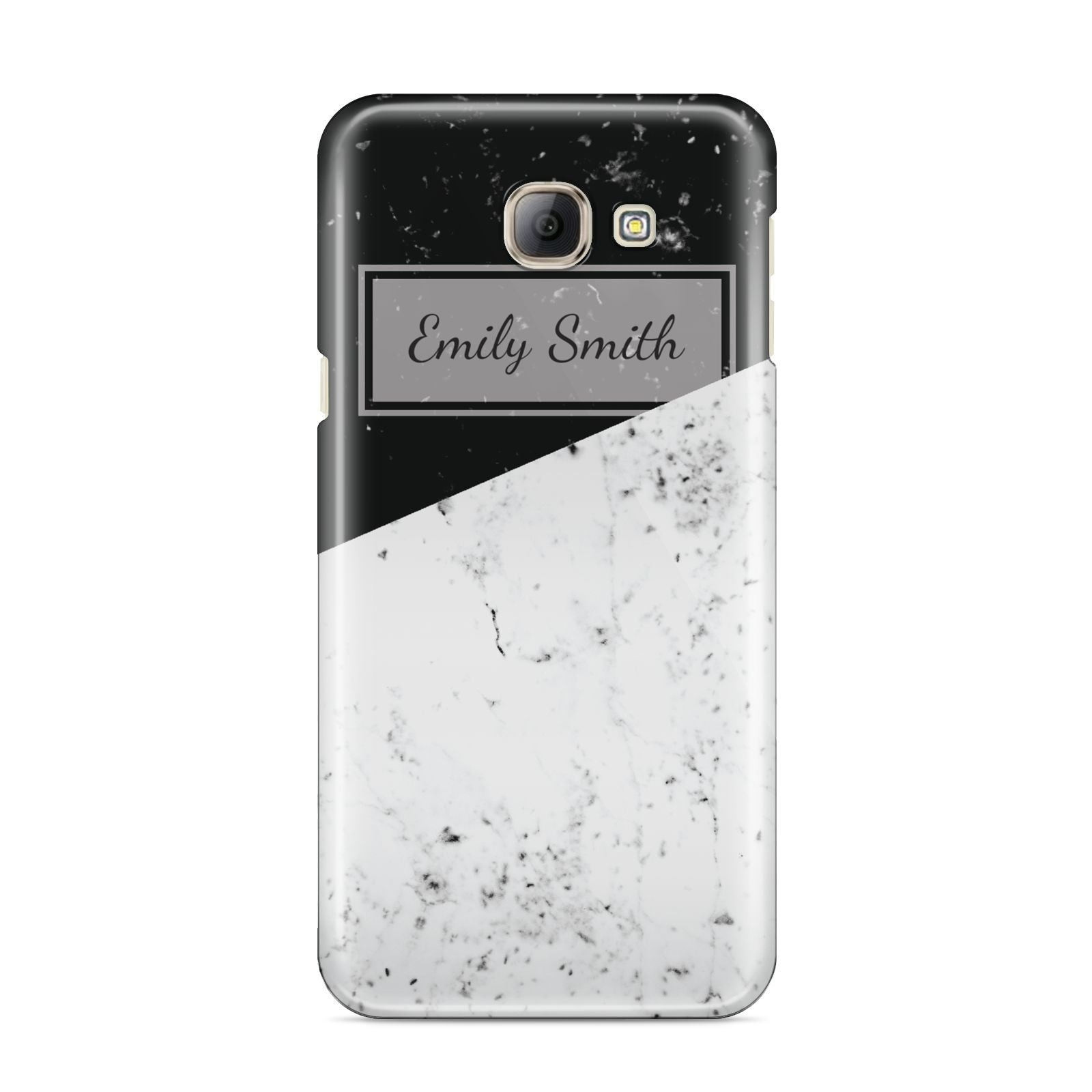 Personalised Day Night Marble Name Initials Samsung Galaxy A8 2016 Case