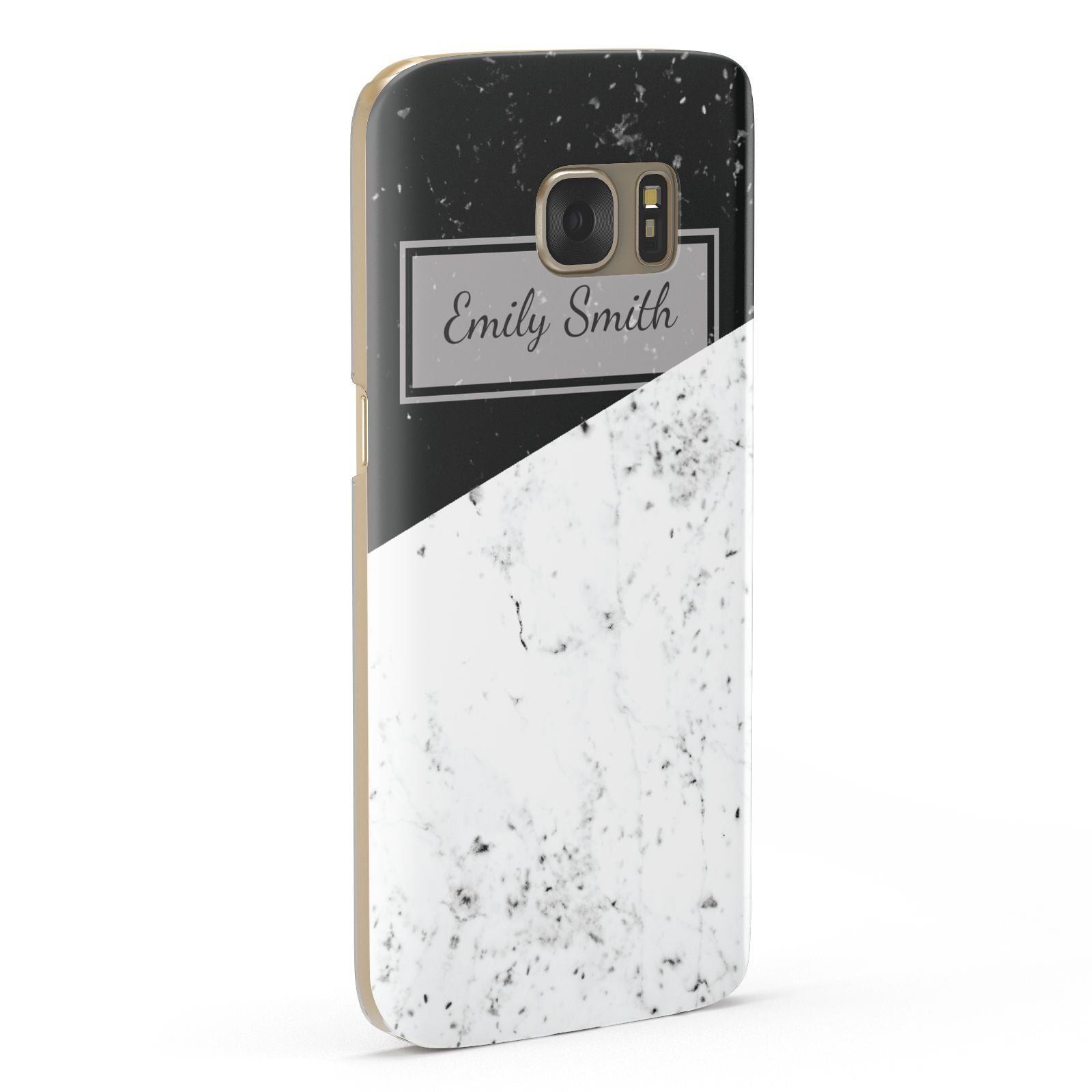 Personalised Day Night Marble Name Initials Samsung Galaxy Case Fourty Five Degrees