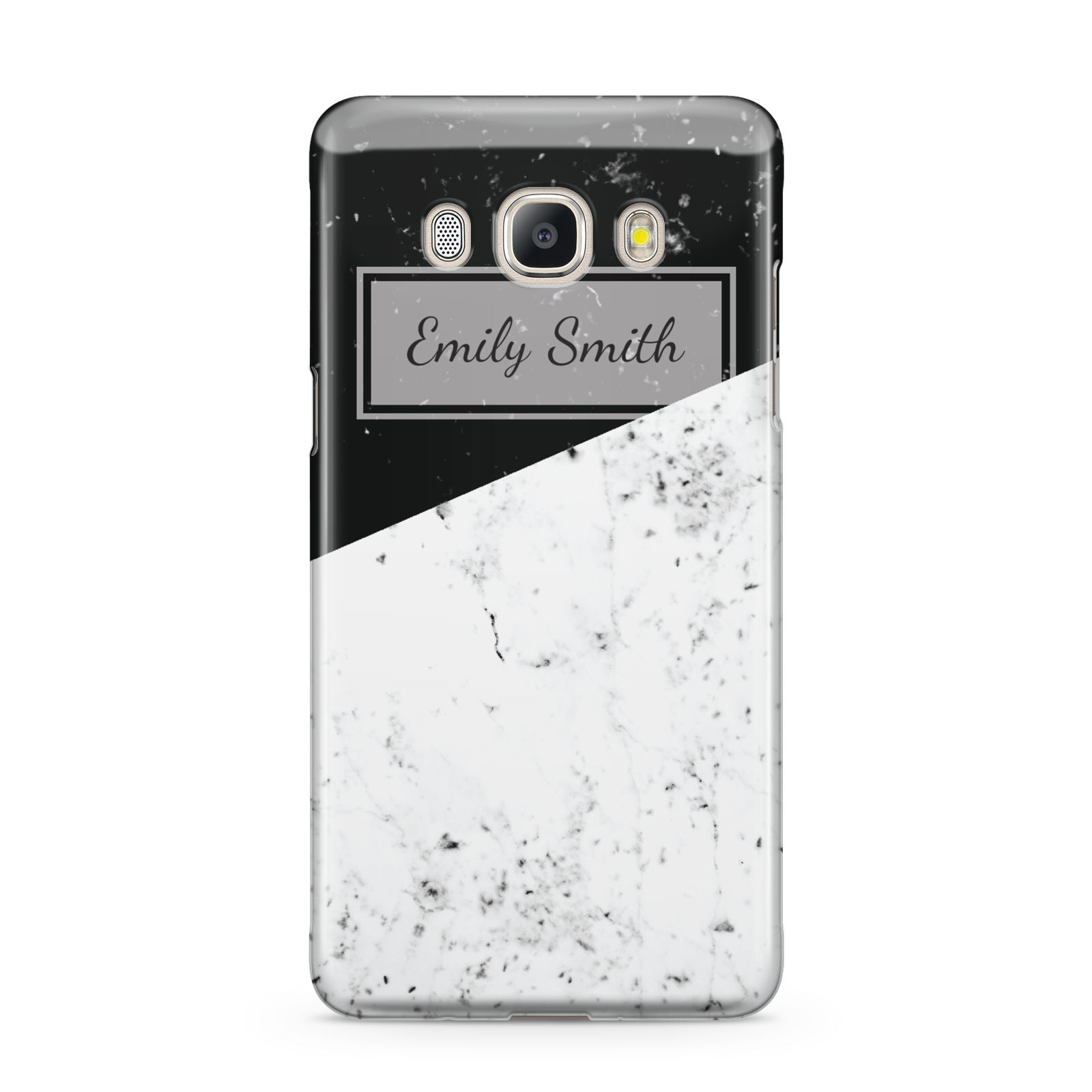 Personalised Day Night Marble Name Initials Samsung Galaxy J5 2016 Case