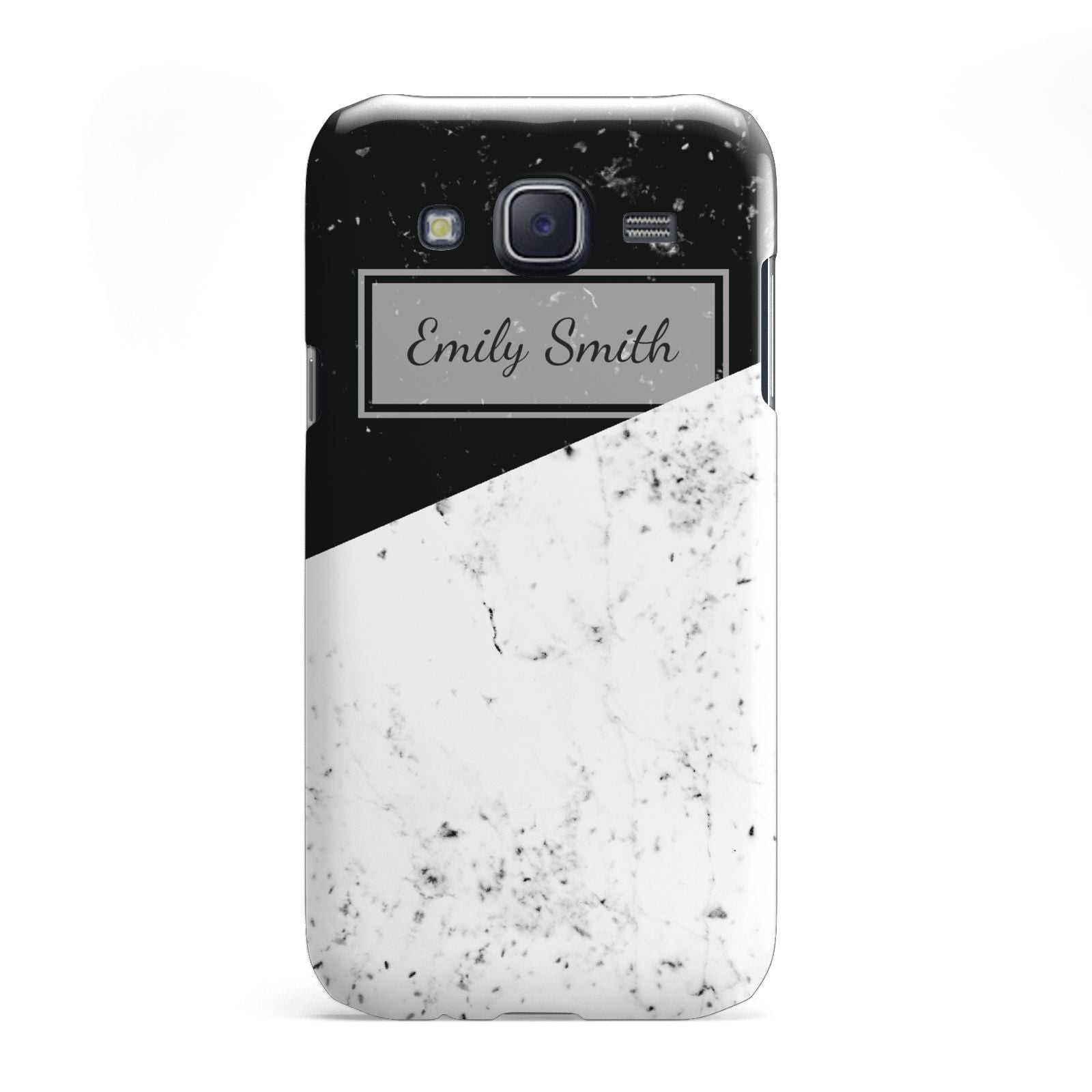 Personalised Day Night Marble Name Initials Samsung Galaxy J5 Case