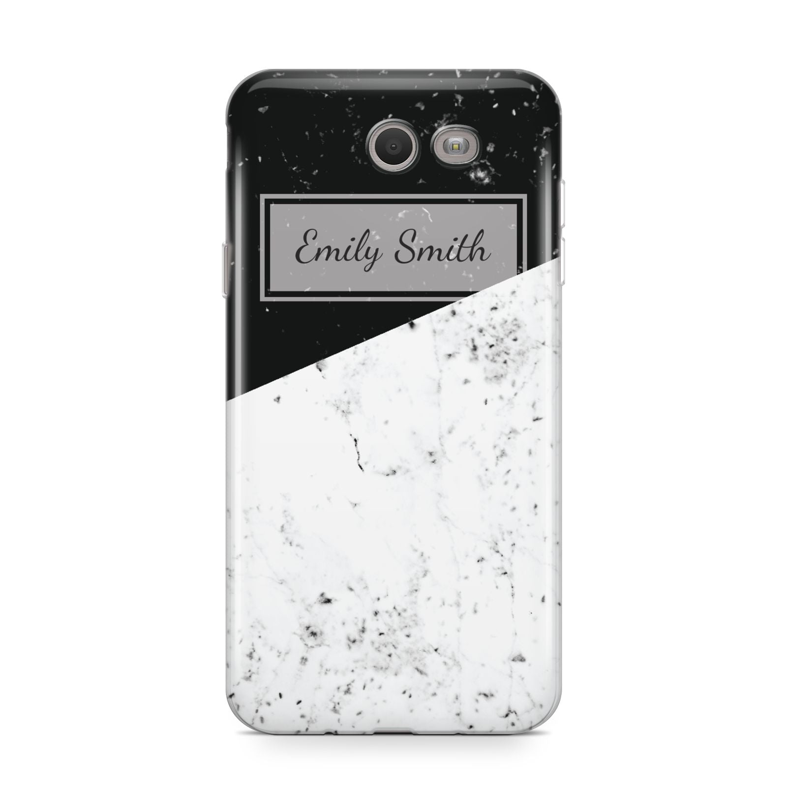 Personalised Day Night Marble Name Initials Samsung Galaxy J7 2017 Case