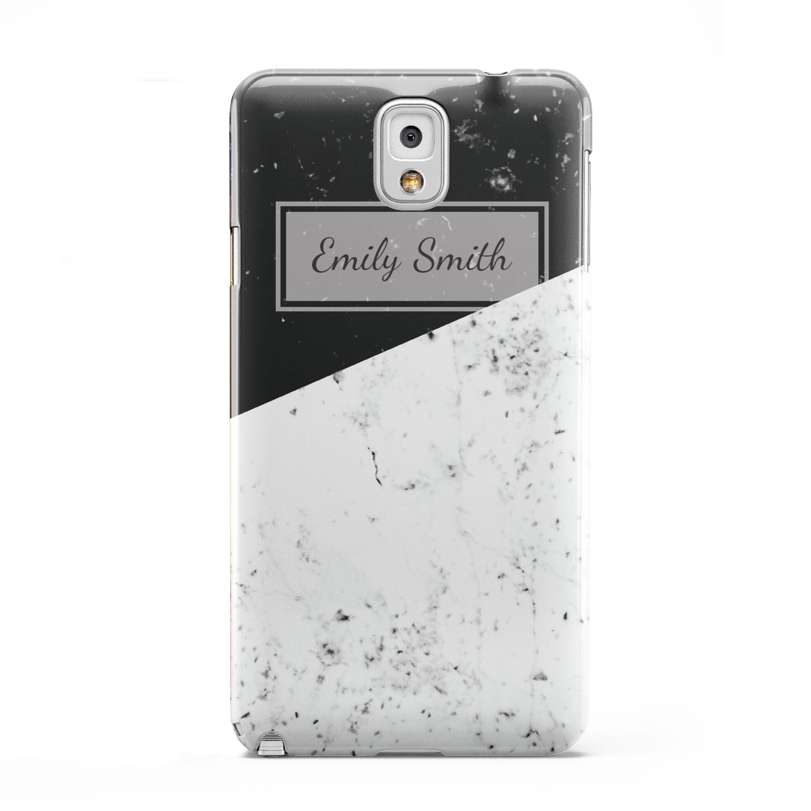 Personalised Day Night Marble Name Initials Samsung Galaxy Note 3 Case