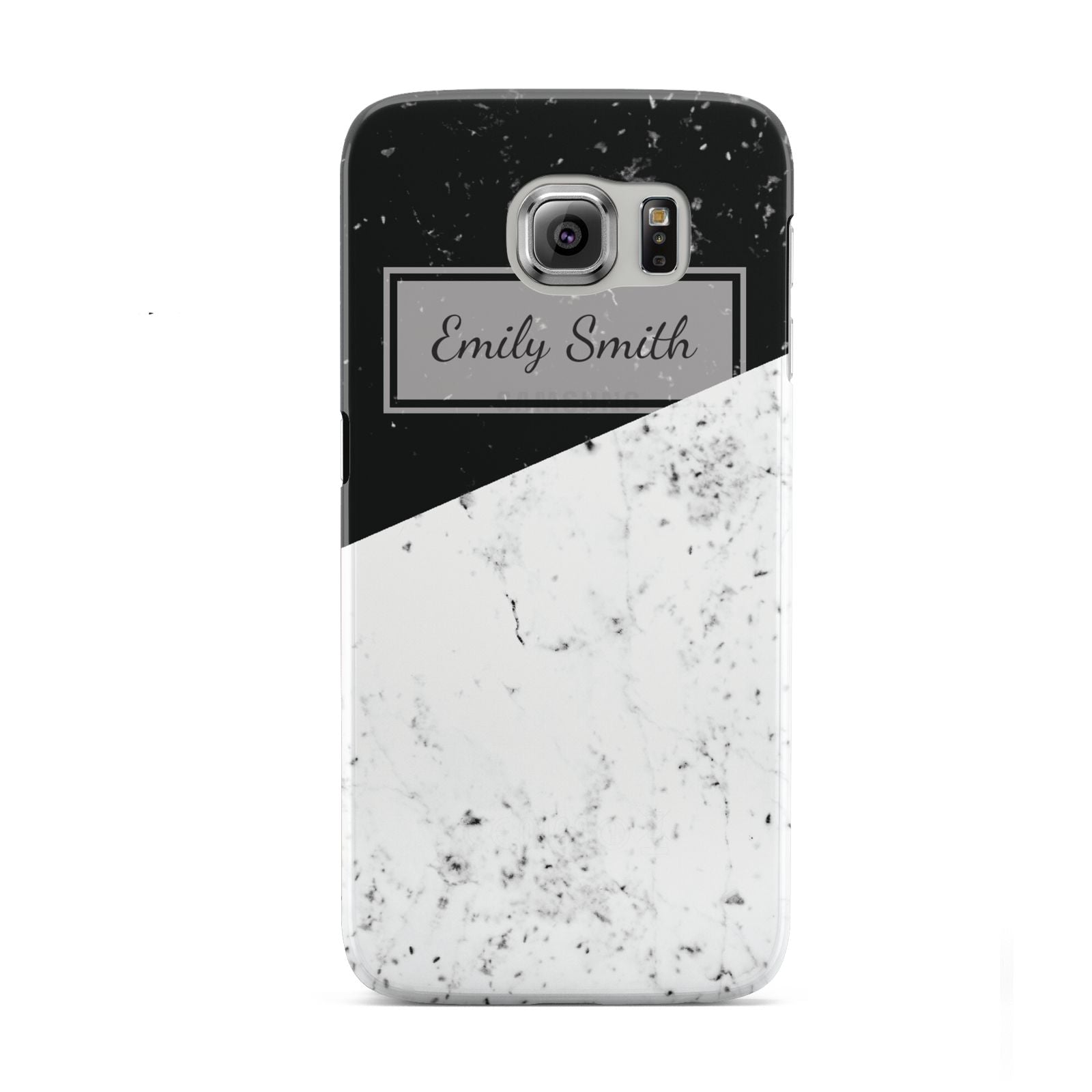 Personalised Day Night Marble Name Initials Samsung Galaxy S6 Case