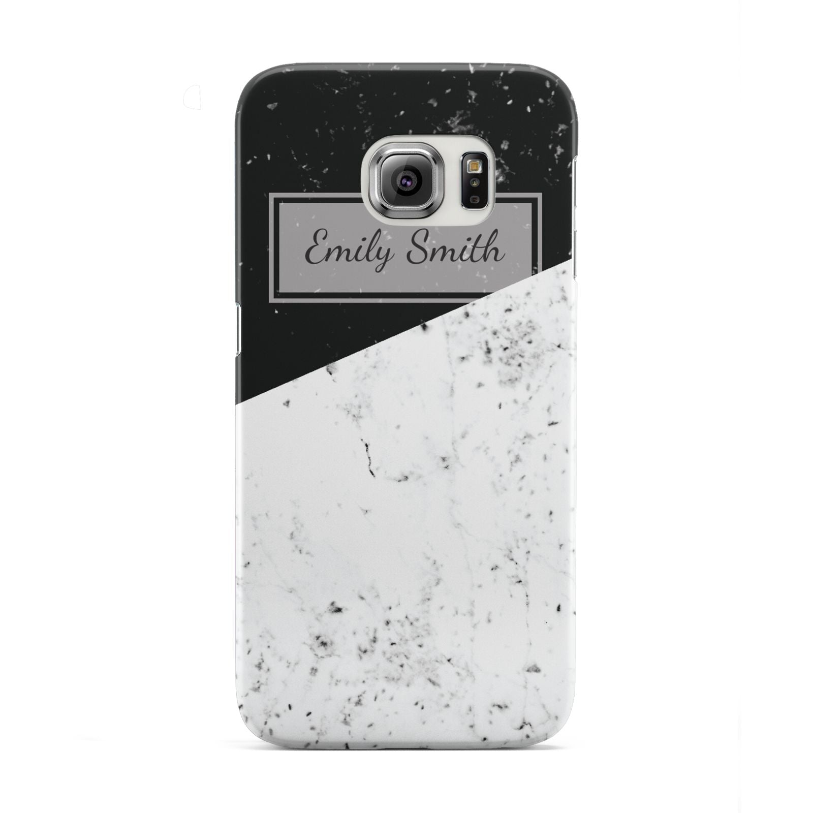 Personalised Day Night Marble Name Initials Samsung Galaxy S6 Edge Case