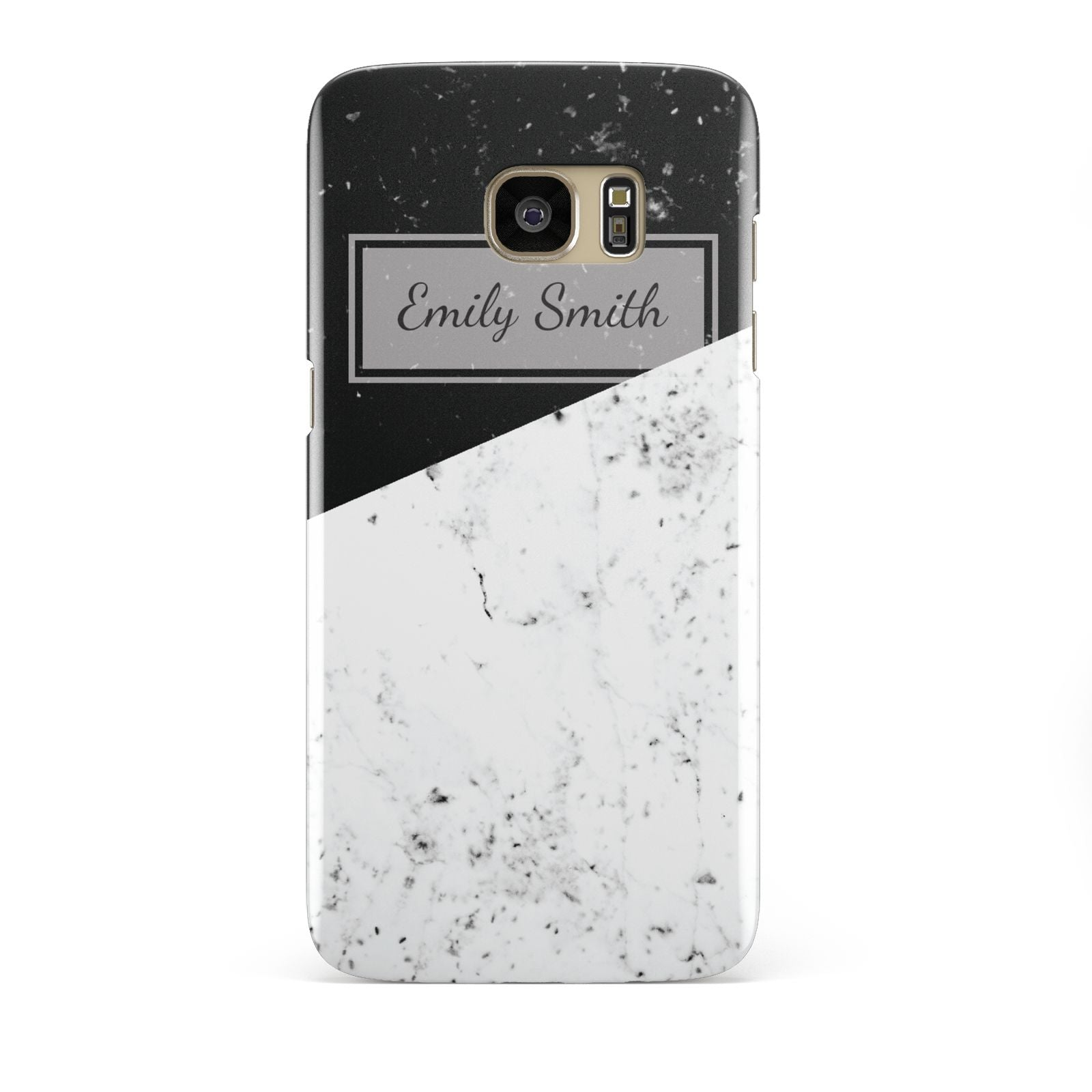 Personalised Day Night Marble Name Initials Samsung Galaxy S7 Edge Case