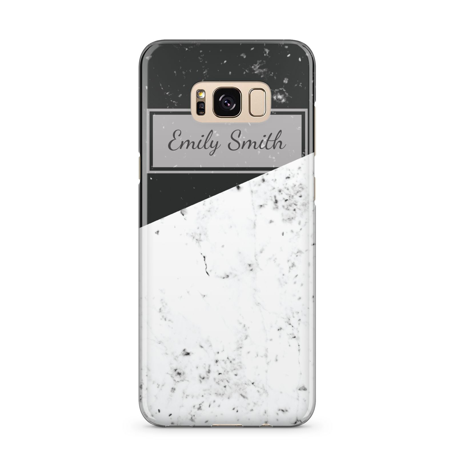 Personalised Day Night Marble Name Initials Samsung Galaxy S8 Plus Case