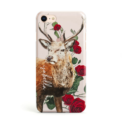 Personalised Deer Name iPhone Case