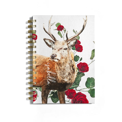 Personalised Deer Name Notebook