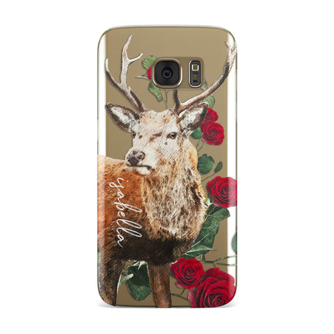 Personalised Deer Name Samsung Galaxy Case