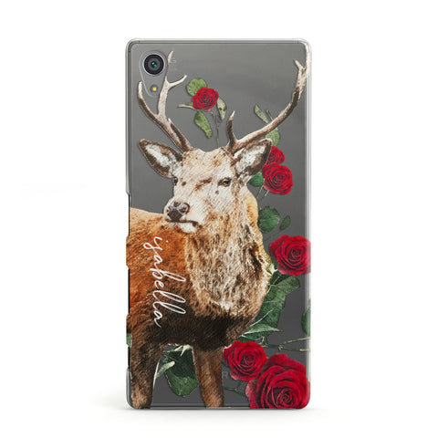 Personalised Deer Name Sony Case