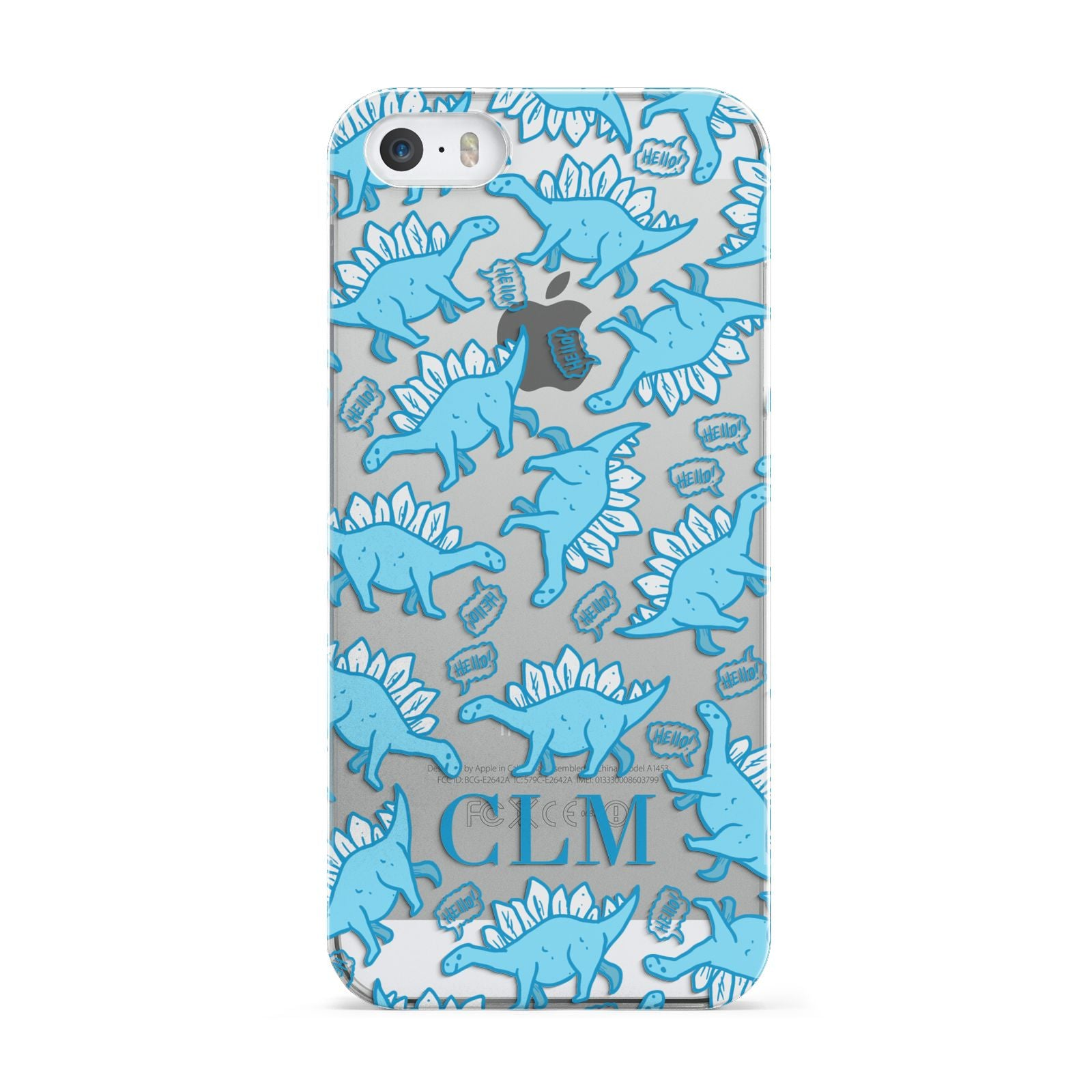 Personalised Dinosaur Initials Apple iPhone 5 Case
