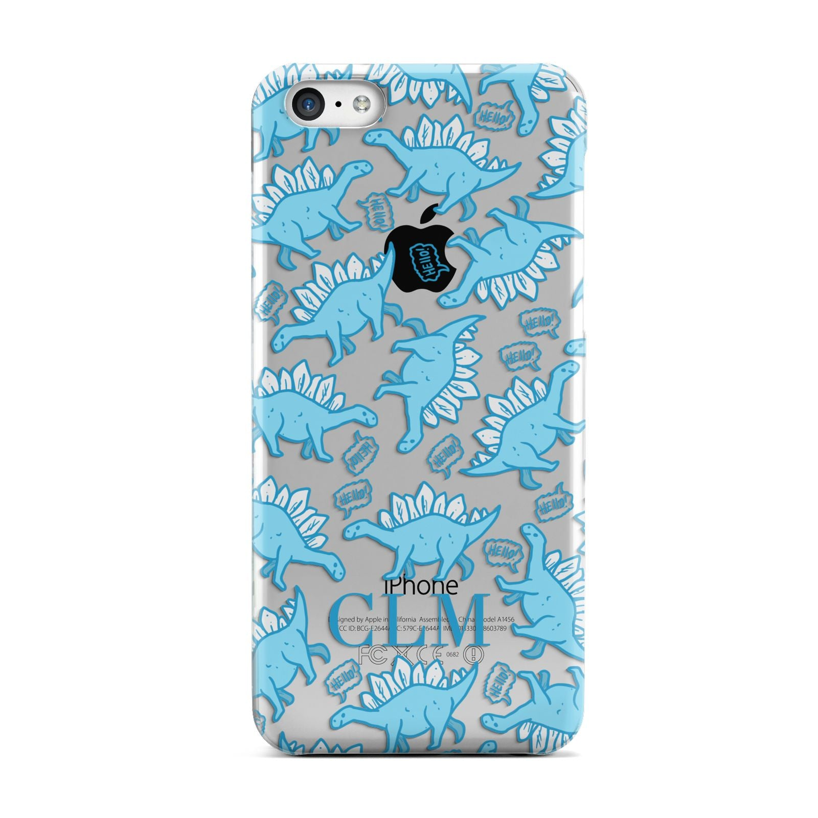 Personalised Dinosaur Initials Apple iPhone 5c Case