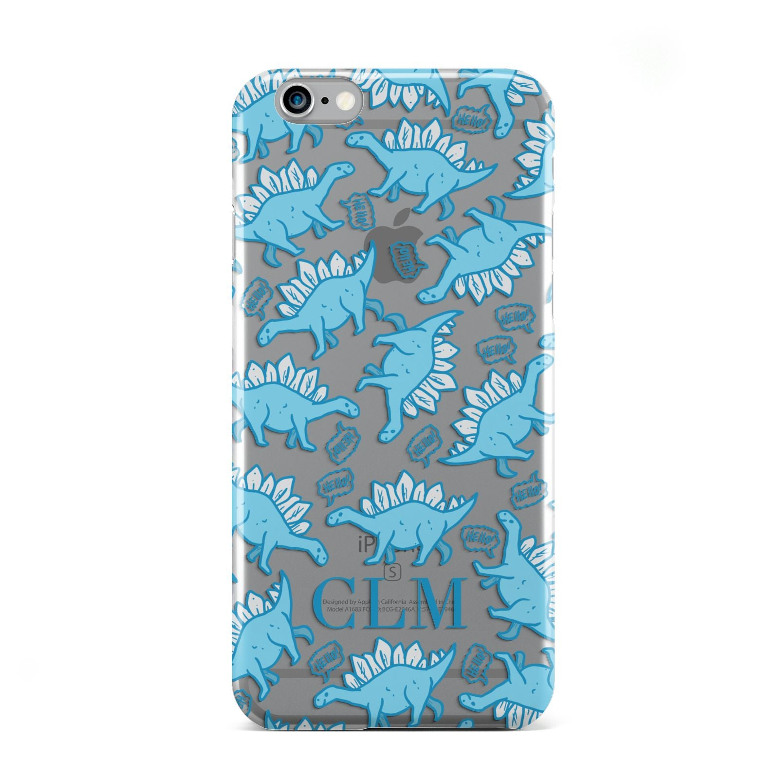 Personalised Dinosaur Initials Apple iPhone 6 Case