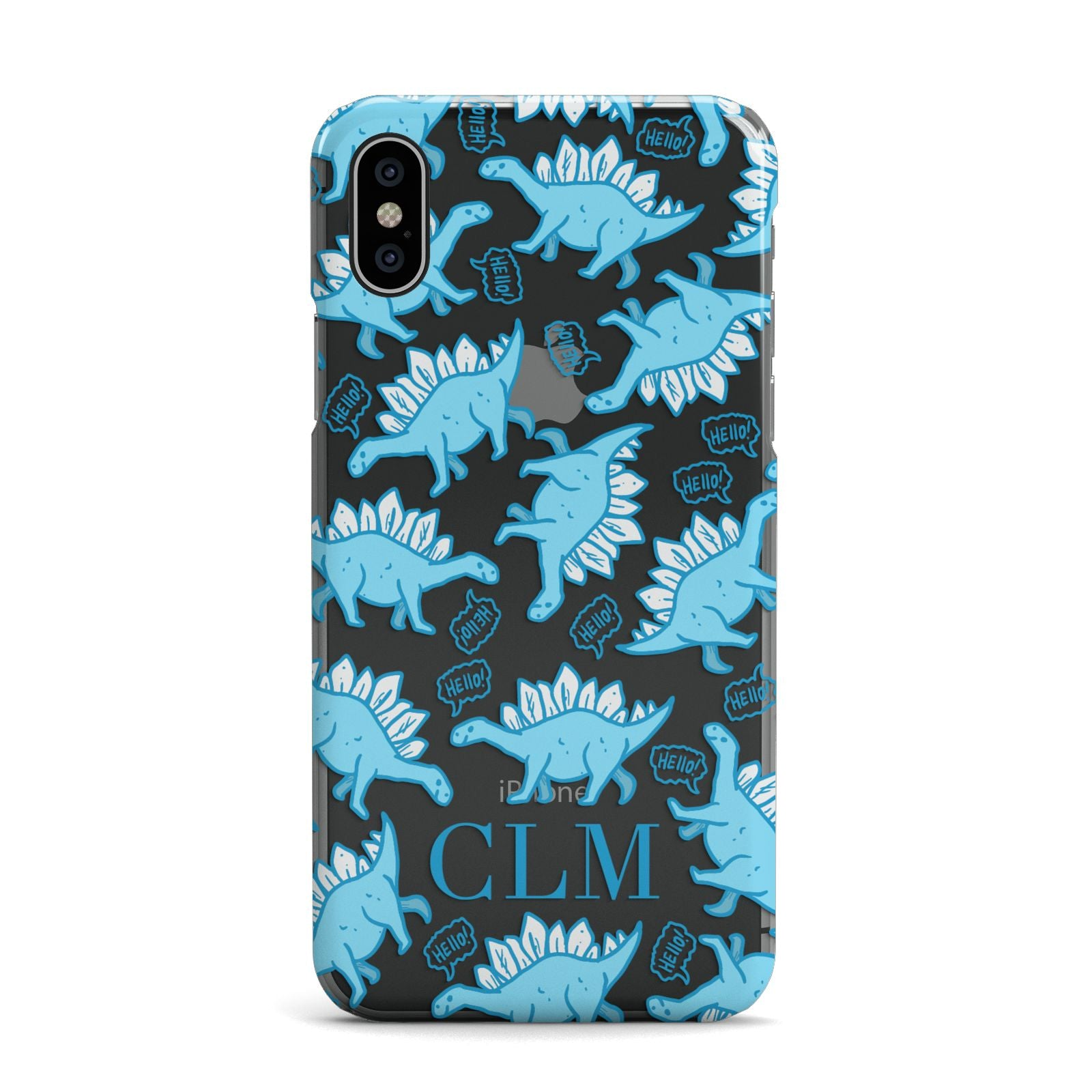 Personalised Dinosaur Initials Apple iPhone X Case