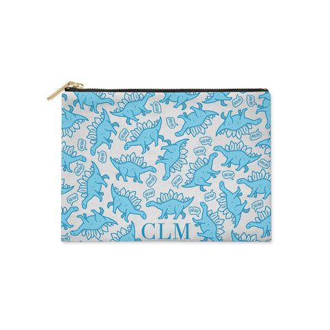 Personalised Dinosaur Initials Clutch Bag