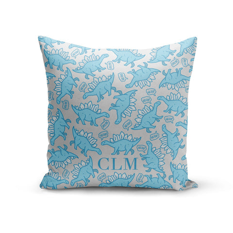 Personalised Dinosaur Initials Cushion
