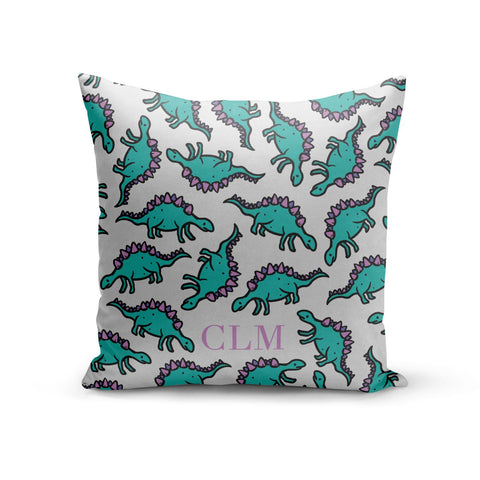 Personalised Dinosaur Monogrammed Cushion