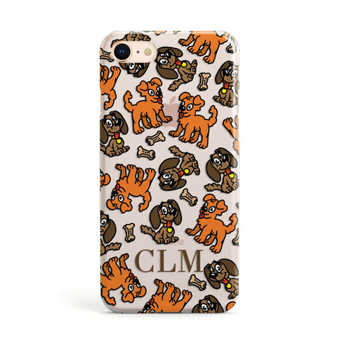 Personalised Dogs Initials Clear Apple iPhone Case