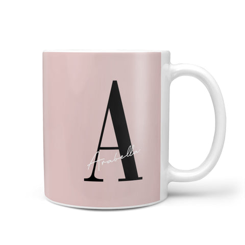 Personalised Dusty Pink Initial Mug