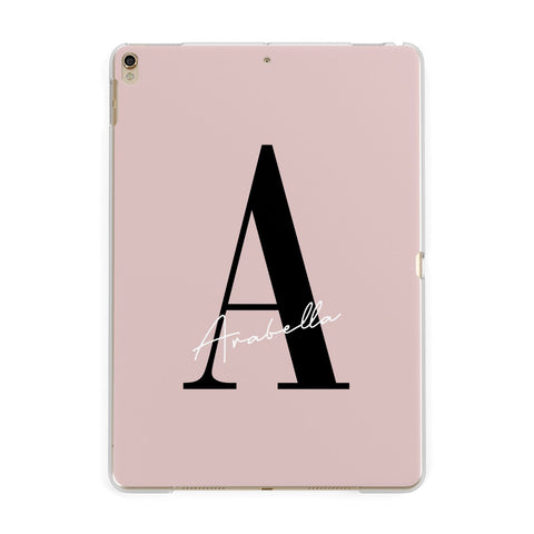 Personalised Dusty Pink Initial iPad Case