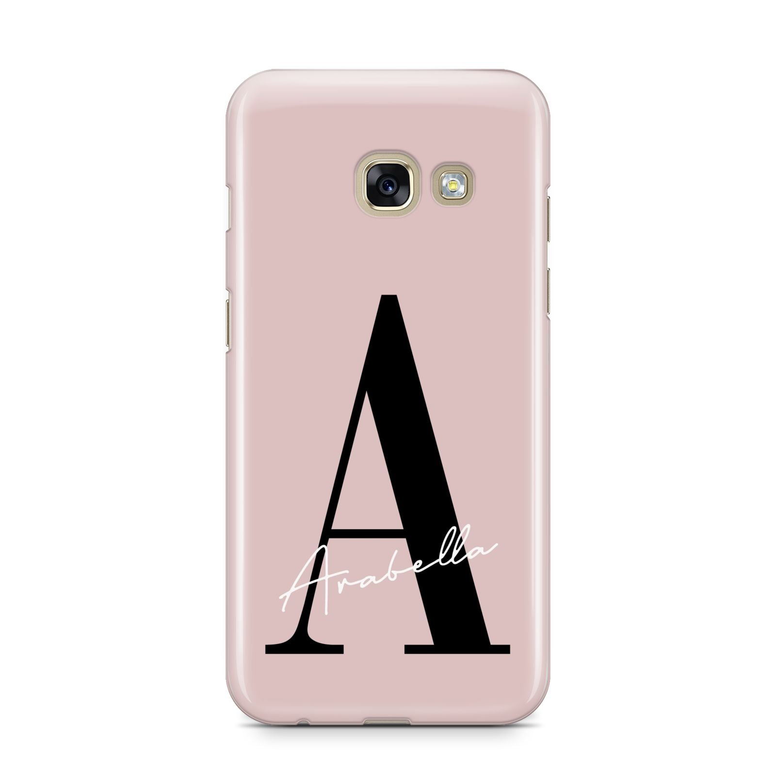 competitive price aad60 2caa1 Personalised Dusty Pink Initial Samsung Galaxy Case