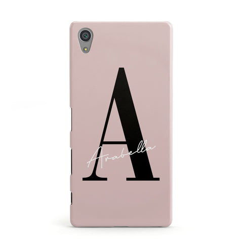Personalised Dusty Pink Initial Sony Case