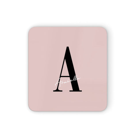 Personalised Dusty Pink Initial Coasters set of 4