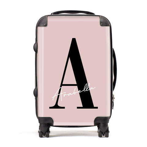 Personalised Dusty Pink Initial Suitcase