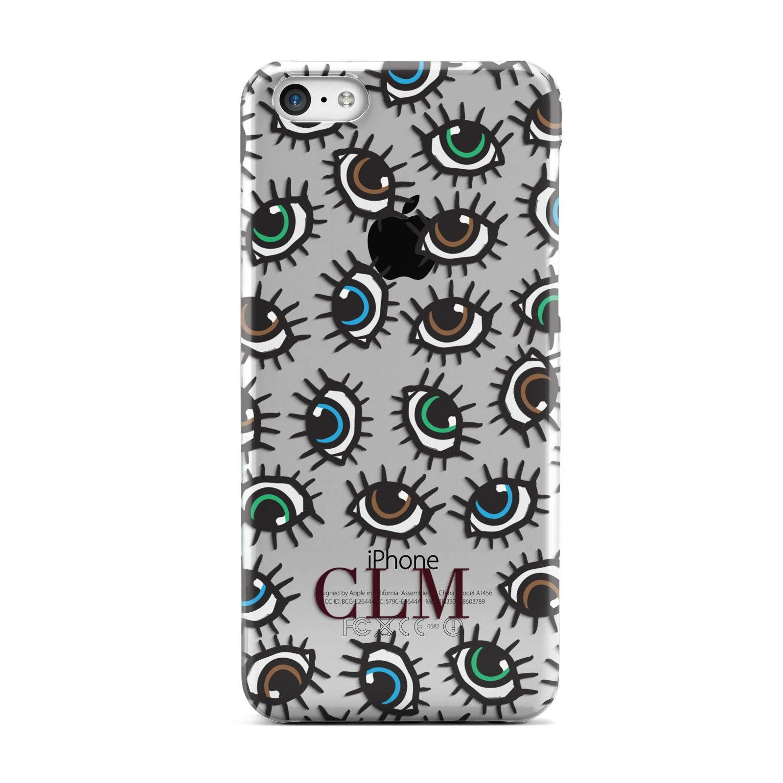 Personalised Eyes Initials Clear Apple iPhone 5c Case