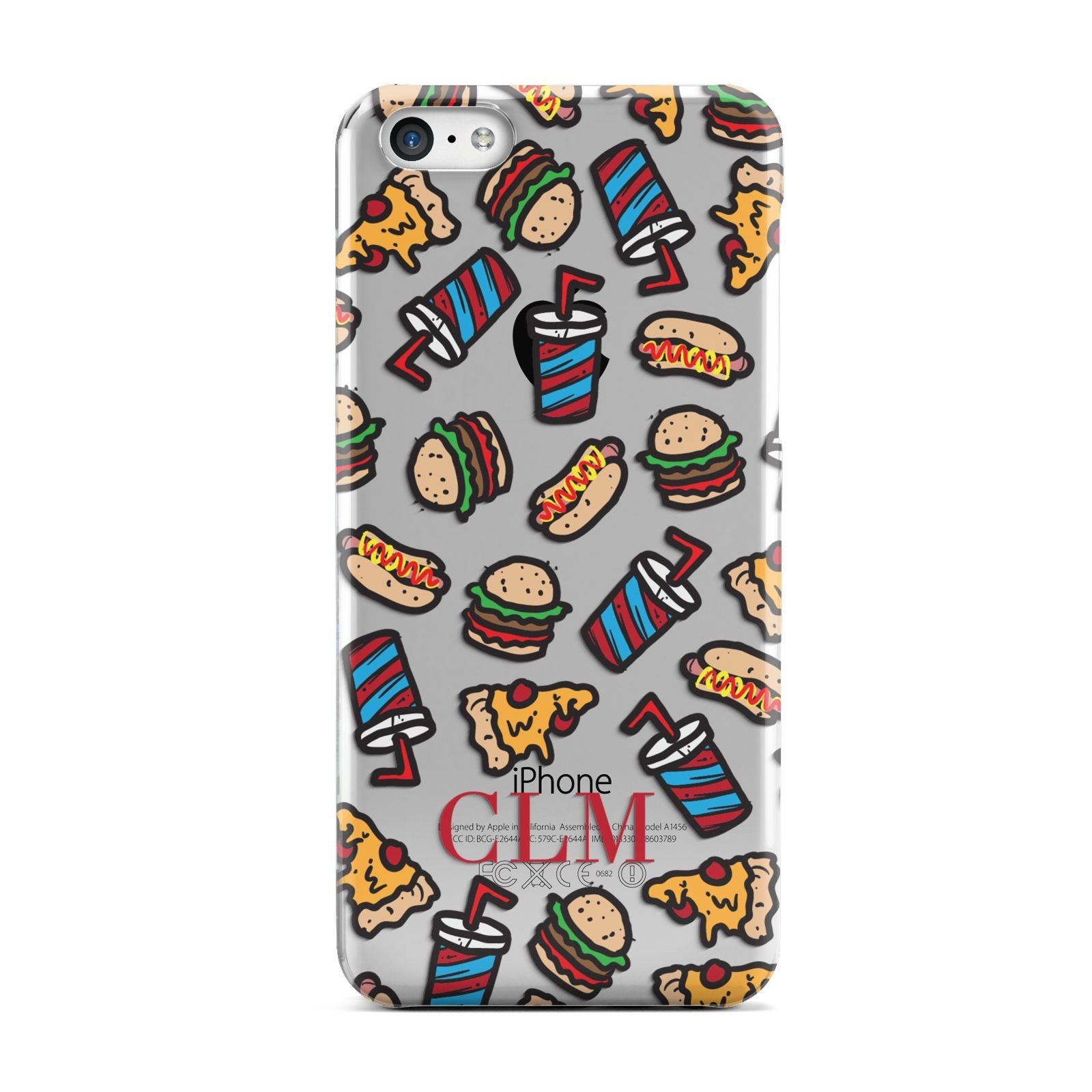 Personalised Fast Food Initials Apple iPhone 5c Case
